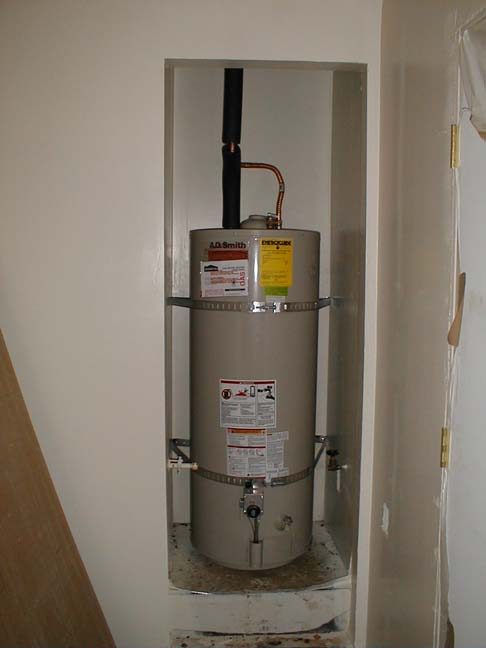 The New Water Heater. Our House